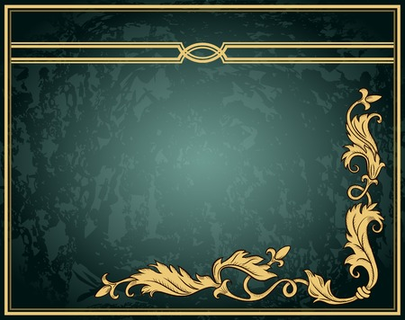Vintage ornament frame in retro style and luxury royal floral pattern Vector
