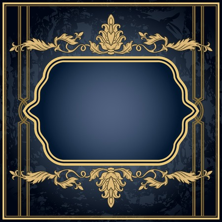 Vintage ornament frame in retro style and luxury royal floral pattern