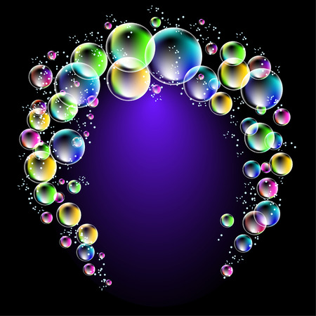spectacular: Magic glowing background with fi spectacular bubbles
