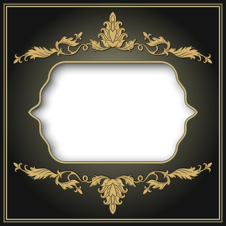 page borders: Vintage ornament frame in retro style