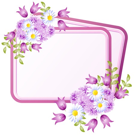 Frame with floral ornament for text or photo