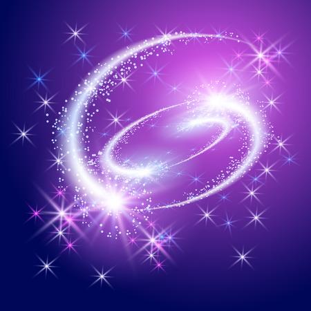 Glowing saludo y fuegos artificiales con estrellas de la chispa Foto de archivo - 40872812