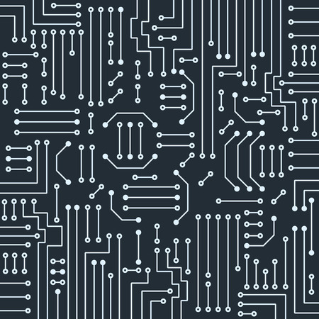 electronic background: Drawing modern electronic circuit on gray background