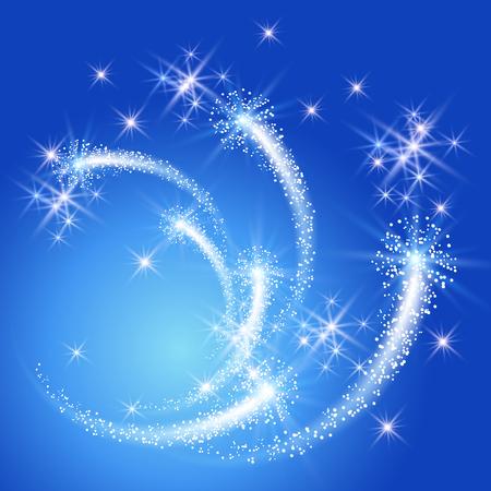 熱烈な敬礼と輝き星と花火  イラスト・ベクター素材