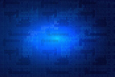 binaries: Binary code on blue glowing background