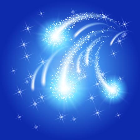 fuegos artificiales: Glowing saludo y fuegos artificiales con estrellas de la chispa