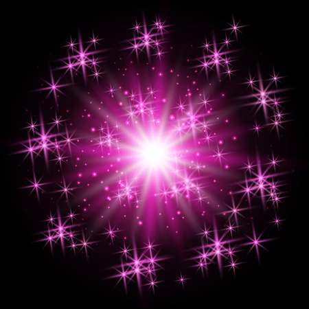 christmas star background: Christmas star on violet sparkle background