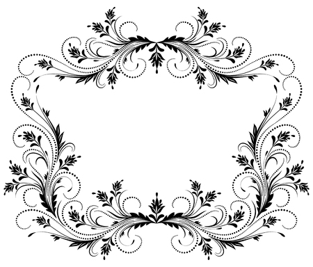 floral frame décoratif avec ornement dans le style rétro