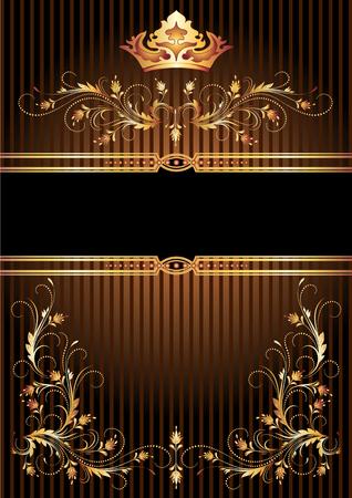Achtergrond met luxe gouden sieraad en de kroon