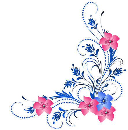 abstract flowers: Decorative corner ornament