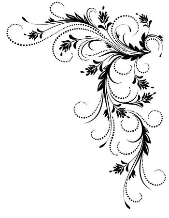 Decorative corner ornament in retro style Illustration