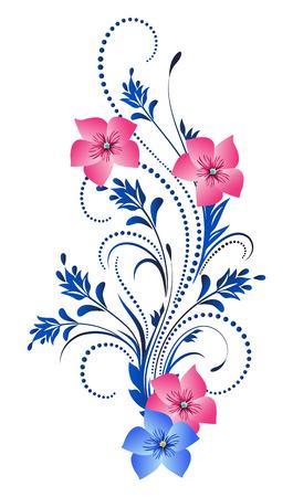 Ornamento floral decorativo Ilustración de vector