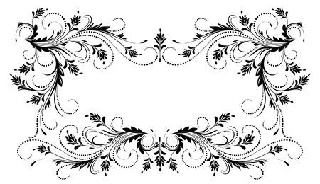 Decorative cornice floreale con ornamento in stile retrò