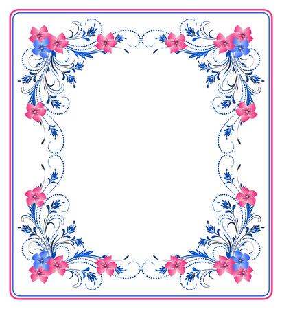 Decorative floral frame d'ornement Vecteurs