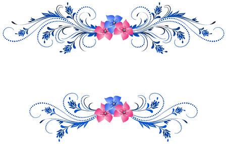 Ornamento floral decorativo