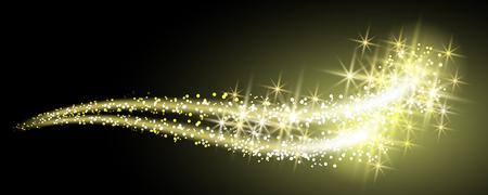 Glühend Hintergrund mit Neon funkeln geschwungenen Linien Illustration
