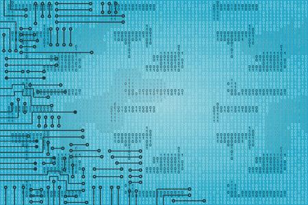 Drawing modern electronic circuit and  binary code