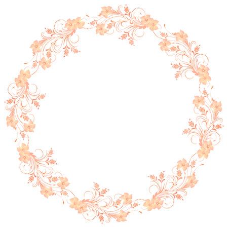 romanticism: Decorative floral frame of ornament