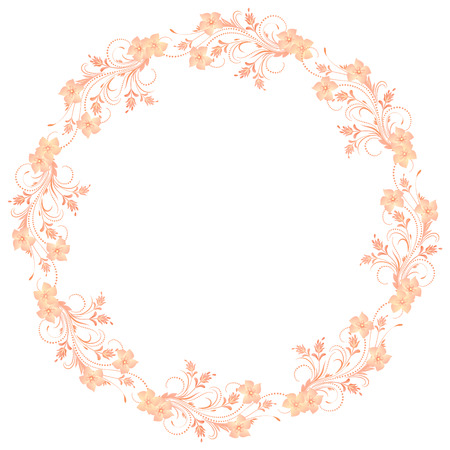 Decorative floral frame of ornament