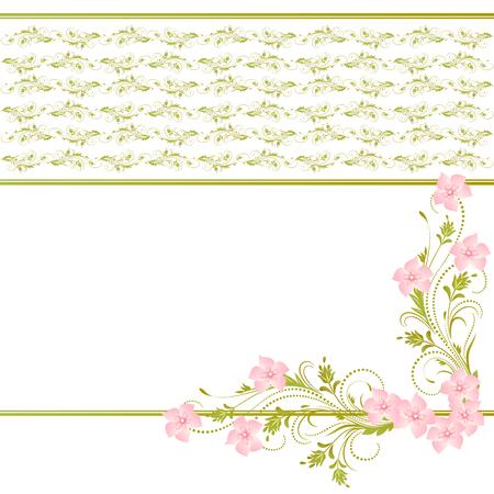 Dekorative Ecke floralen Ornament