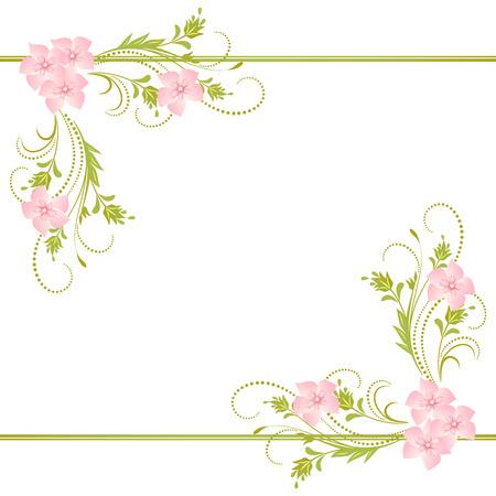 Decorative corner floral ornament Vettoriali