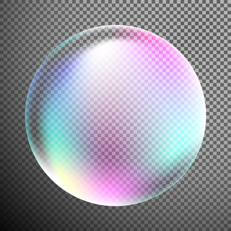 Bubble as design element isolated on special translucent or transparent background