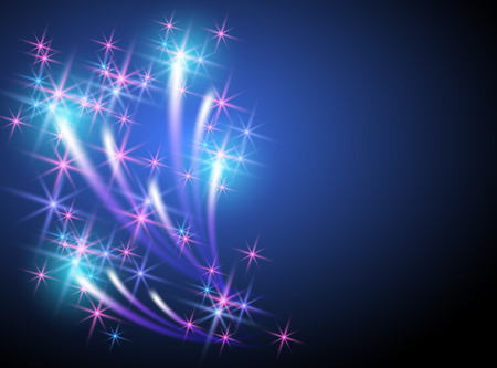 sparkle background: Glowing background with sparkle stars and firework with salute