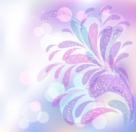 Abstract ornament on blur background in pastel colors Illustration