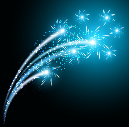 salute: Glowing salute and firework with sparkle stars Illustration