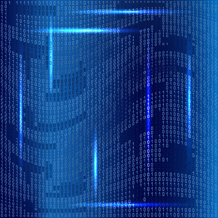 binaries: Binary code on blue background