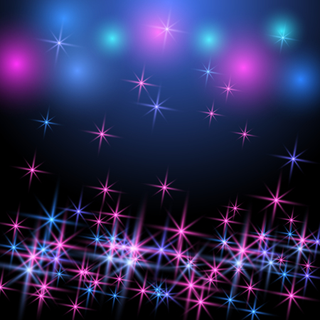 Glowing background with sparkle and glowing stars