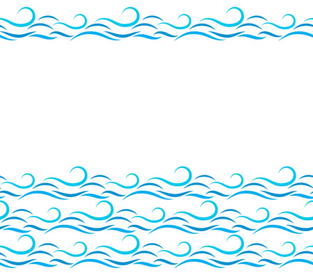 pattern: Seamless pattern. Texture with sea waves and splashes. Illustration