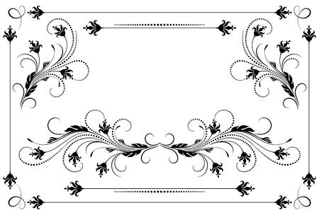 Set vintage ornament and decorative divider for greeting card, invitation postcard or congratulation text Vector illustration.