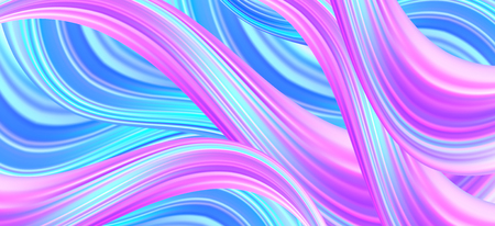 Wavy background with effective multicolored waves Ilustração