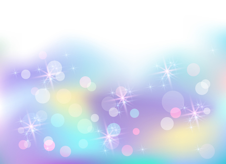 Fantasy and magical background with cosmic sparkle stars in which unicorn dwells