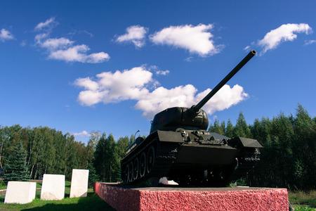 Monument tank 241 in the Smolensk region Editorial