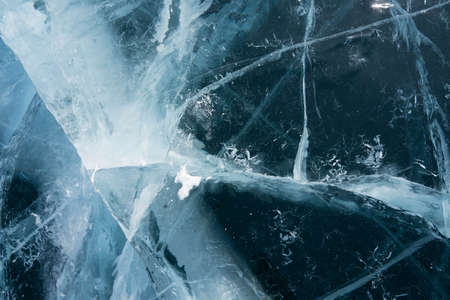 patterns in a frozen and transparent lake