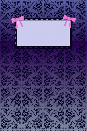 abstract background with banner with bows Illustration