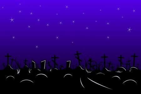 cemetery border Illustration