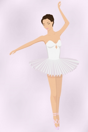 illustration of ballet dancer Stock Vector - 16120835