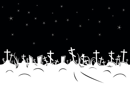 Nahtlose negativen Friedhof Grenze Standard-Bild - 16120856