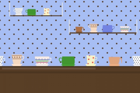seamless border with cups Illustration