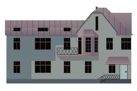dormer: illustration of house isolated on white background