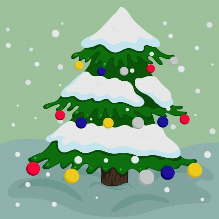 illustration of colorful Christmas tree Vector