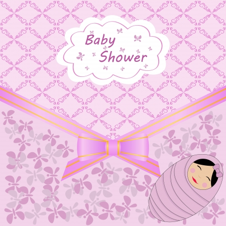card celebration with baby shower Vector
