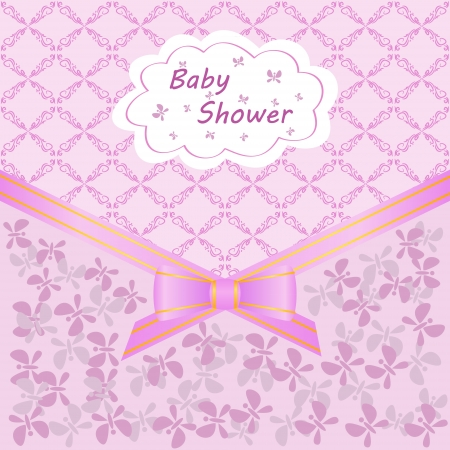 card celebration with baby shower