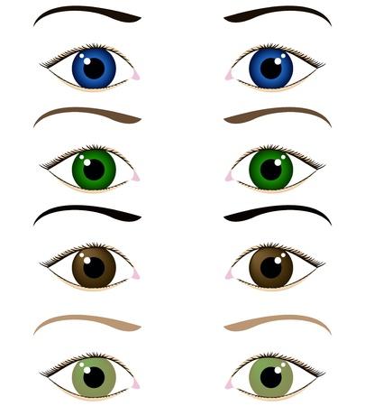 set van cartoon ogen