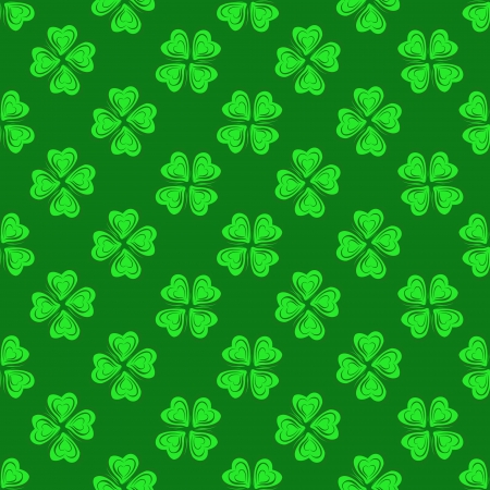 seamless pattern with green hearts Stock Vector - 16120954