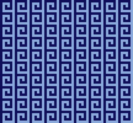 Blauen griechischen seamless pattern Standard-Bild - 16120936