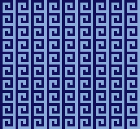 blue Greek seamless pattern Illustration
